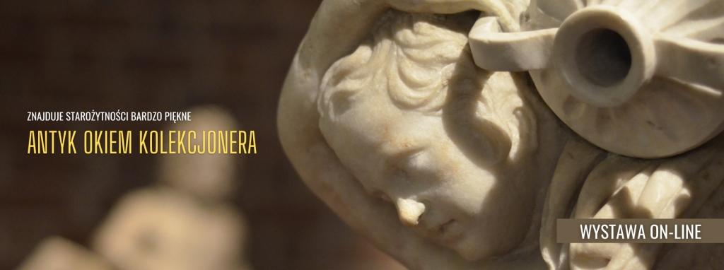 Fragment marmurowej rzeźby chłopca z amforką, która pochodzi w pierwszej połowy pierwszego wieku